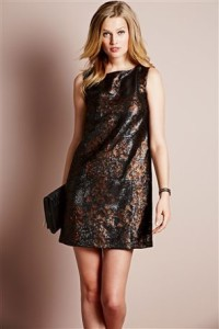 Next, Bronze Sequin Shift Dress, £85