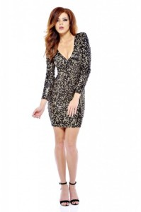 AX Paris, V Front Bodycon Sequin Dress, £45