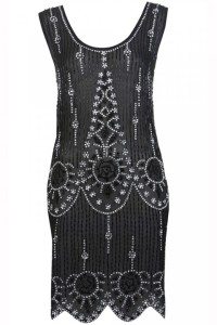 Miss Selfridge Black Flapper Embellished Dress, £95